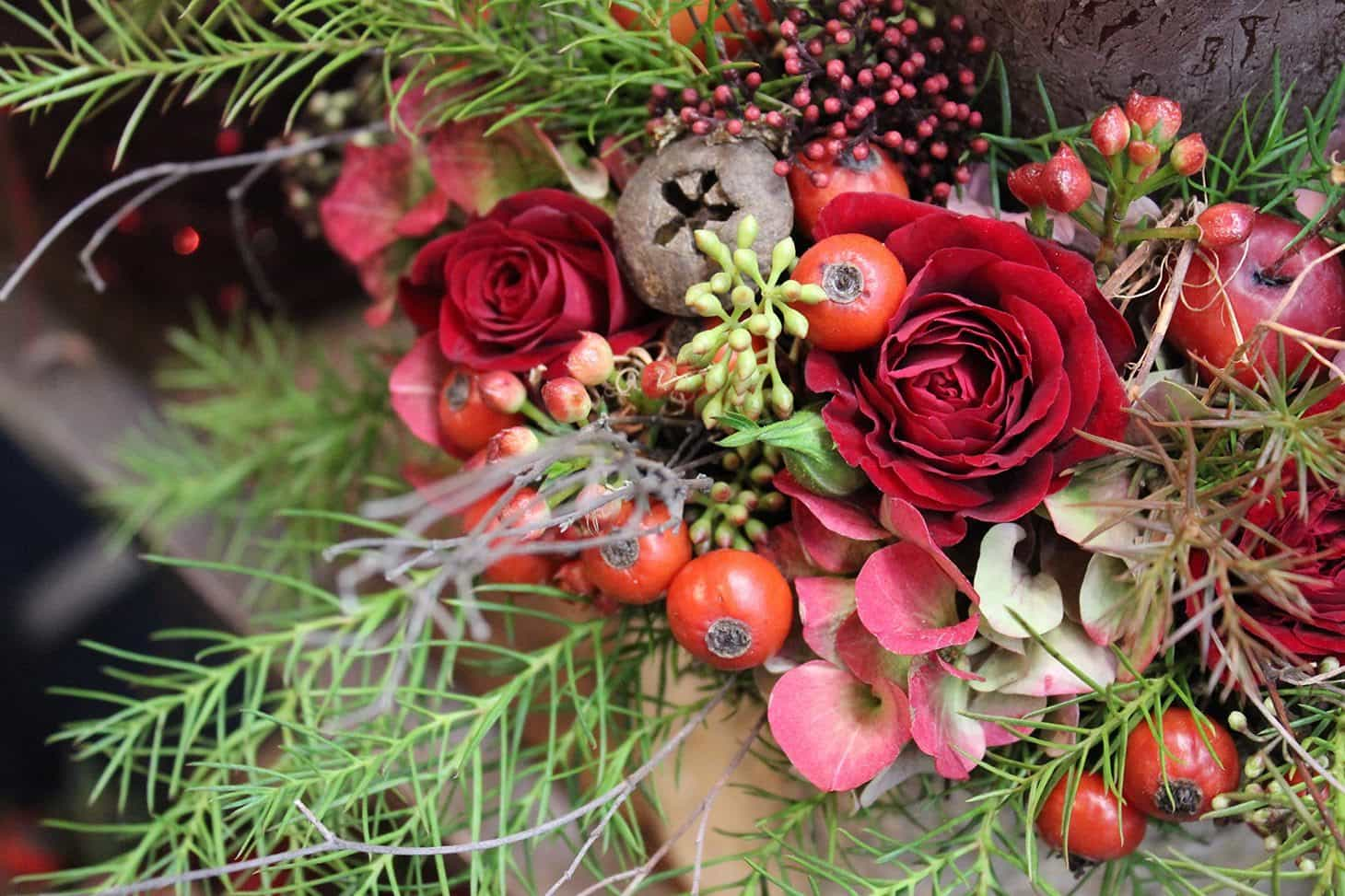 Christmas magic, zita elze 2016, christmas flower shop london
